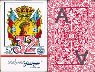 Fournier No.12 Design carte segnato